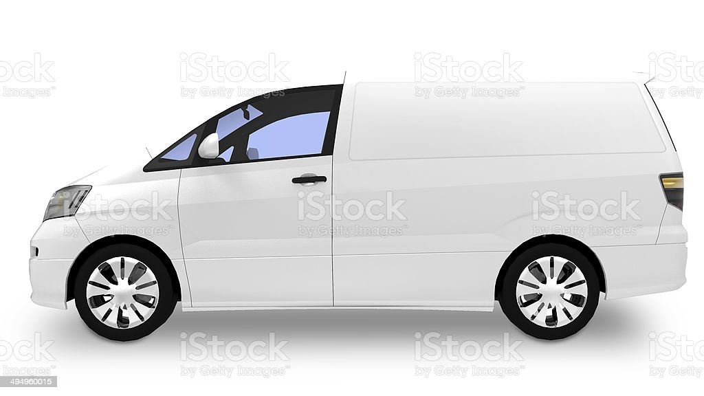 Blank White van / truck ready for branding royalty-free stock photo