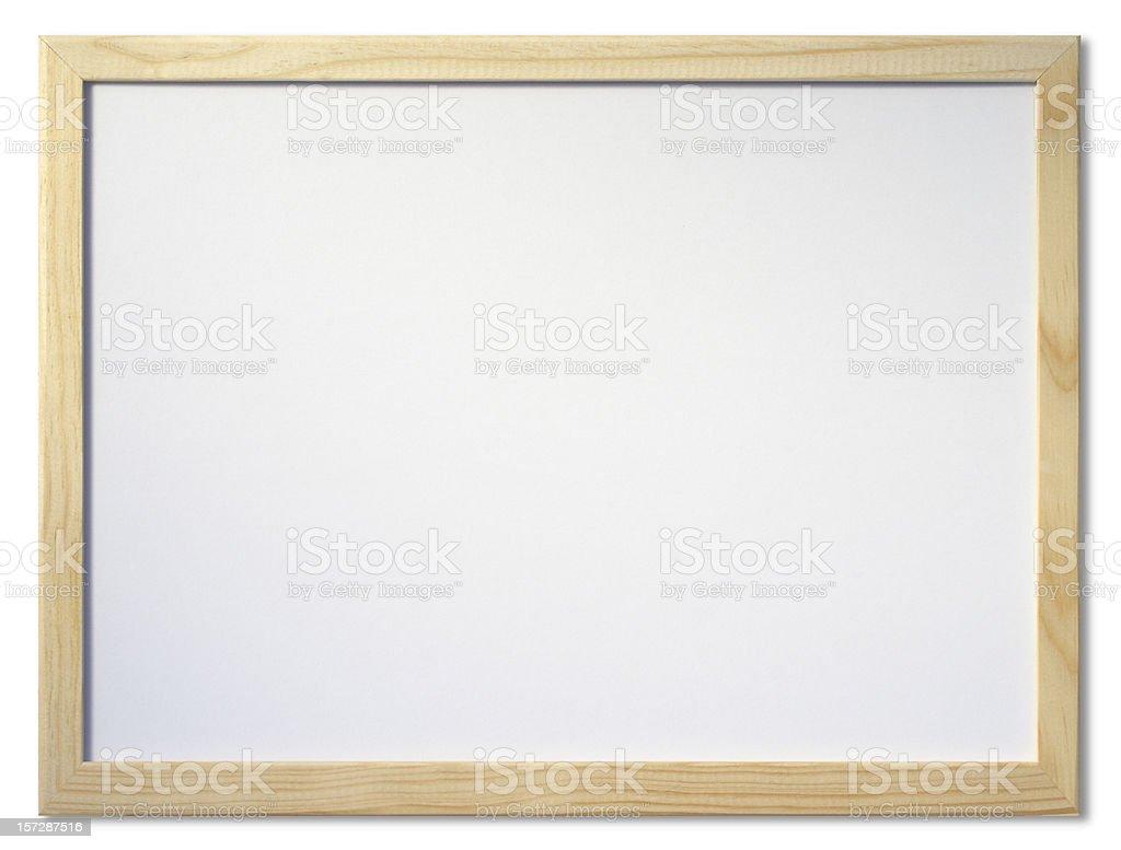 Blank Whiteboard, isolated on white background royalty-free stock photo
