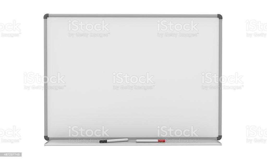 Blank Whiteboard stock photo