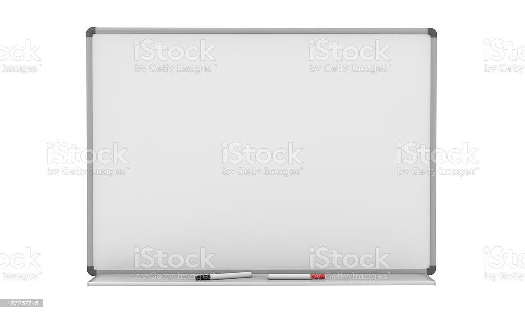 Blank Whiteboard stock photo