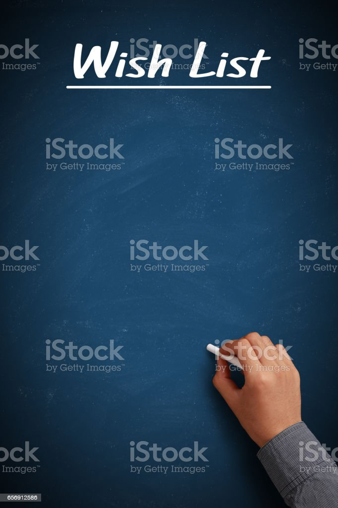 Blank Wish List stock photo