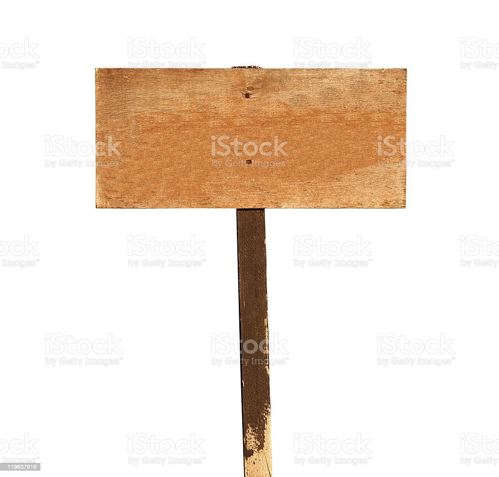 Blank Wood Sign royalty-free stock photo