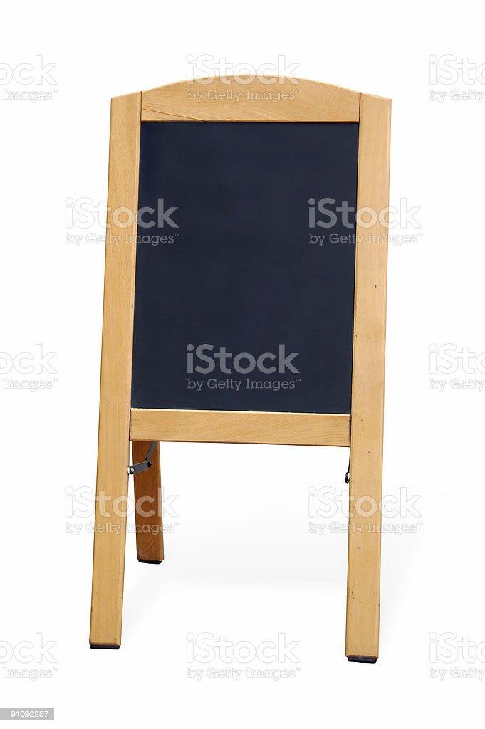 Blank wooden blackboard royalty-free stock photo