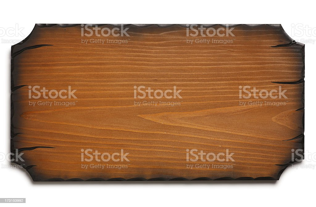 Blank Wooden Sign royalty-free stock photo