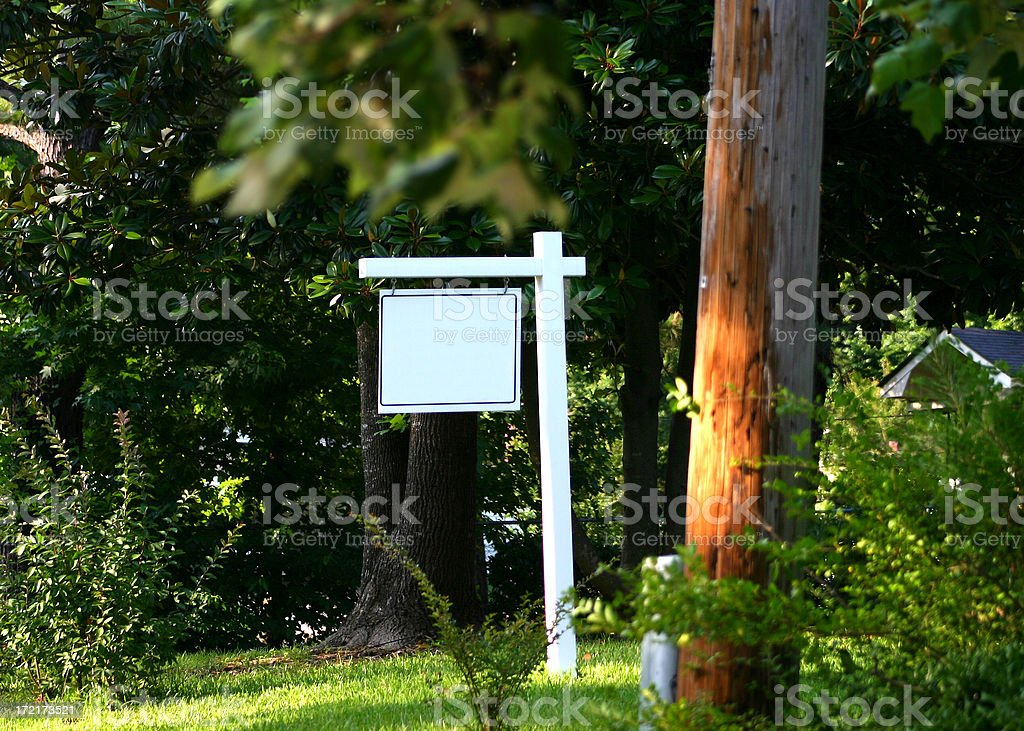 Blank Yard Sign royalty-free stock photo