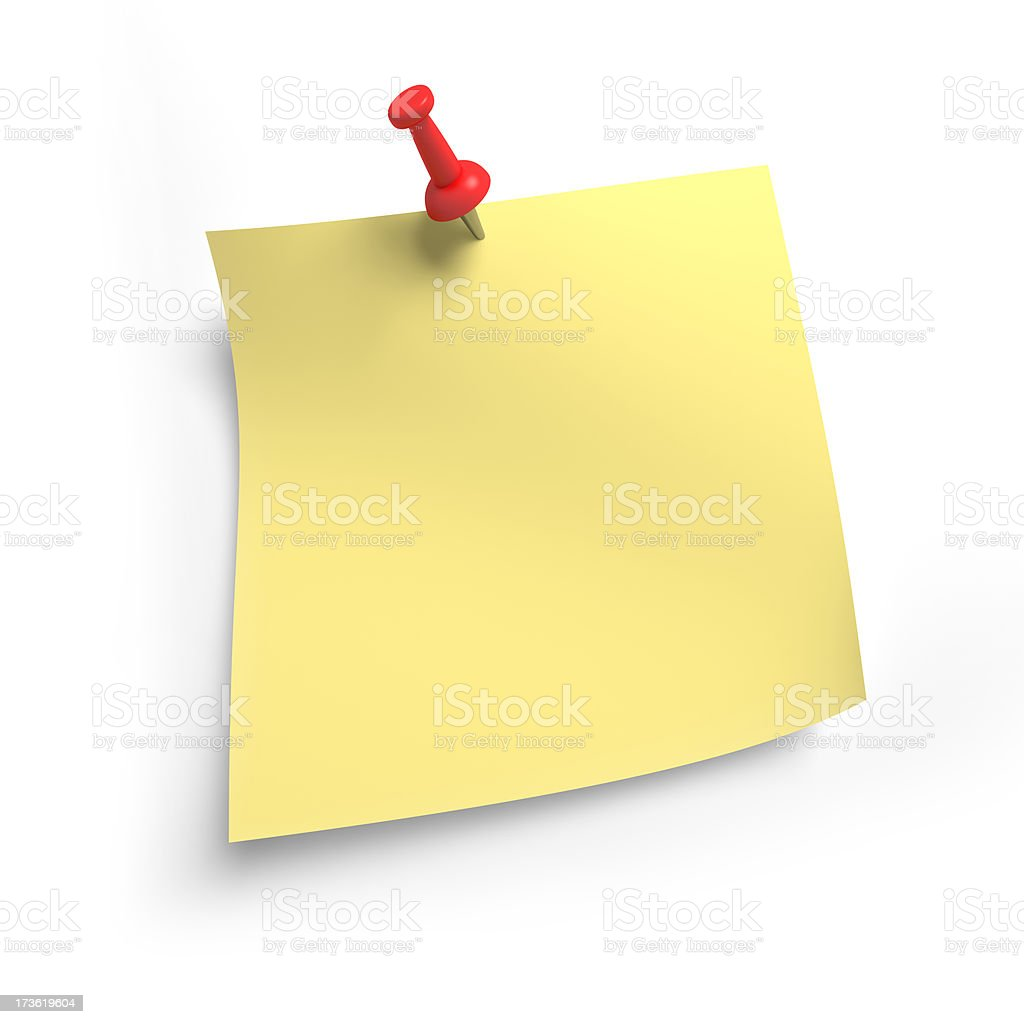 Blank Yellow Note Paper royalty-free stock photo