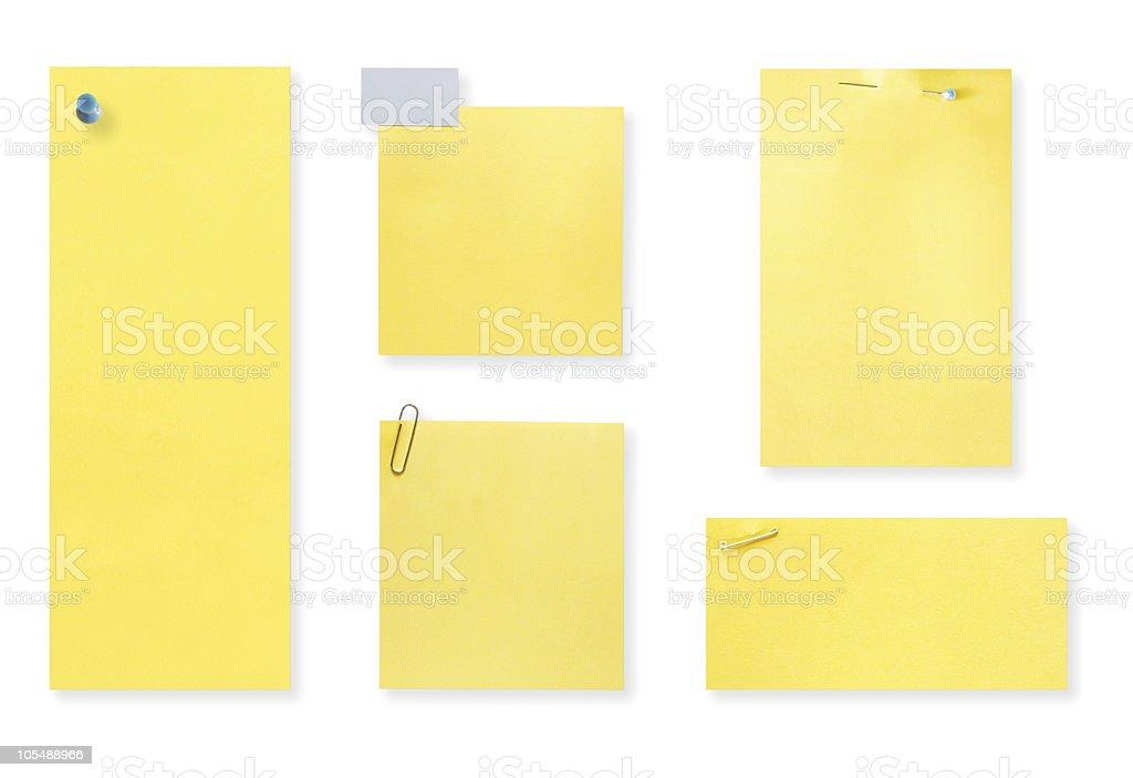 Blank Yellow Notes royalty-free stock photo
