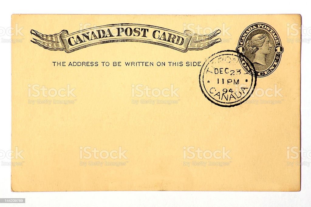 Blanked Antique Post Card royalty-free stock photo