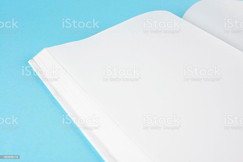 Blank/empty white book royalty-free stock photo