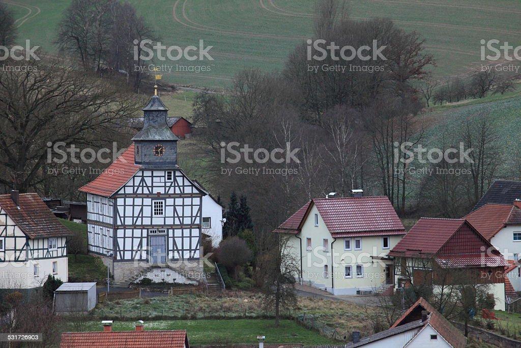 Blankenbach bei Sontra in Nordhessen stock photo