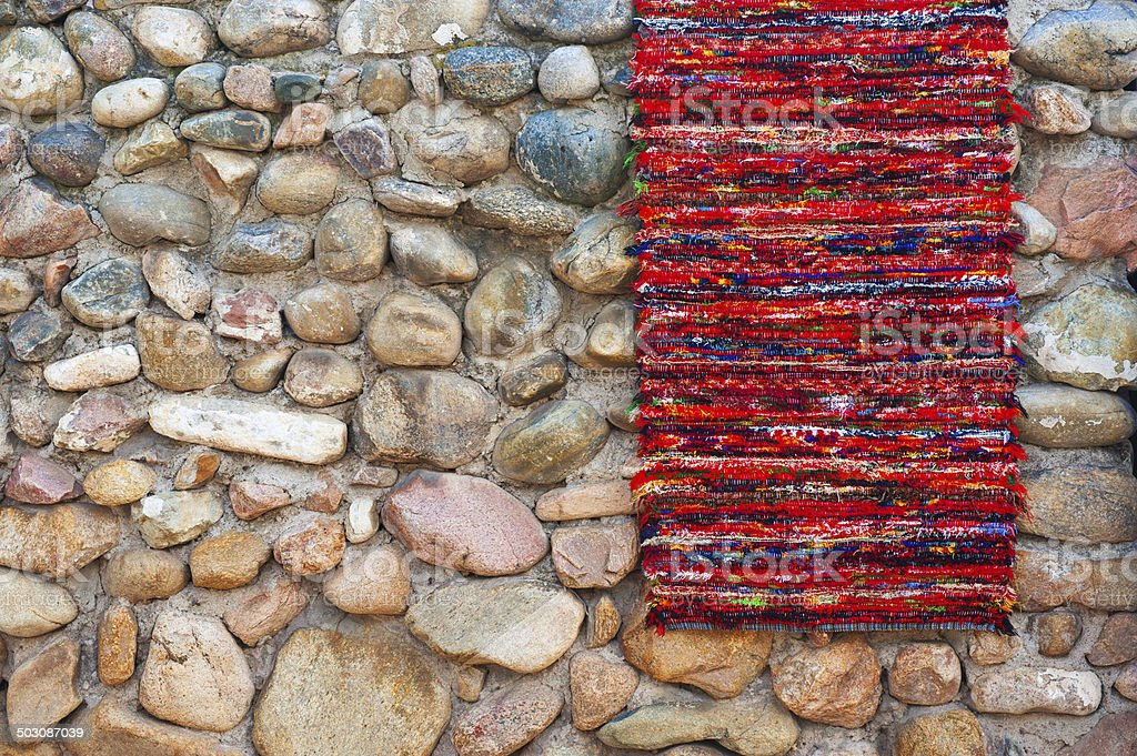 Blanket Detail with Latin American Color Pattern royalty-free stock photo