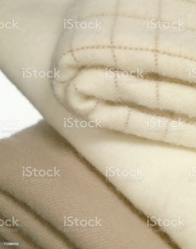 blankets on white royalty-free stock photo