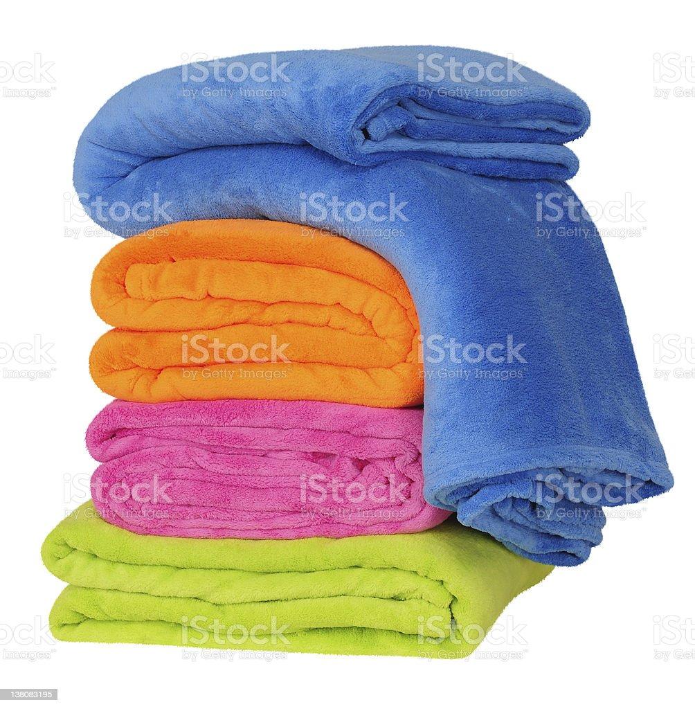 Blankets. stock photo