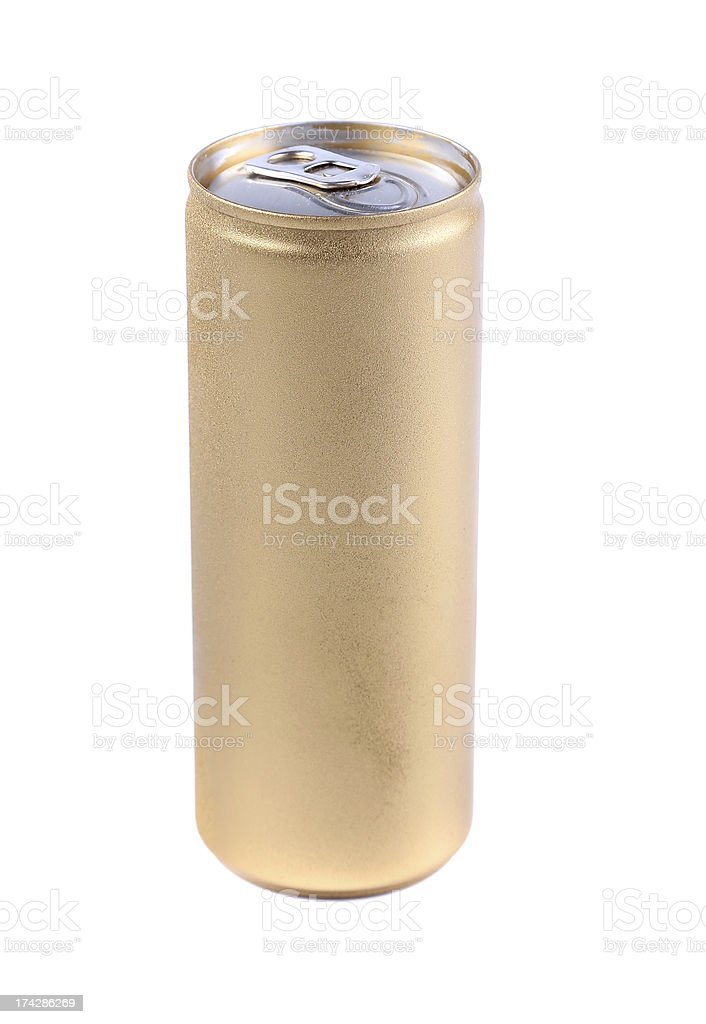 Blanks aluminum and golden soda cans. royalty-free stock photo