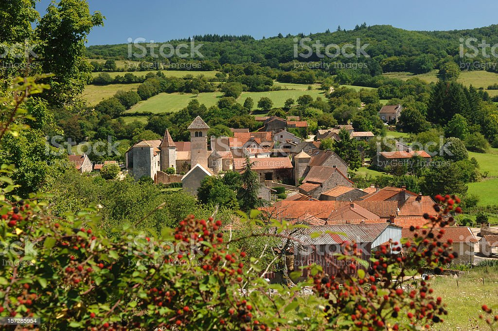 Blanot, Burgundy royalty-free stock photo