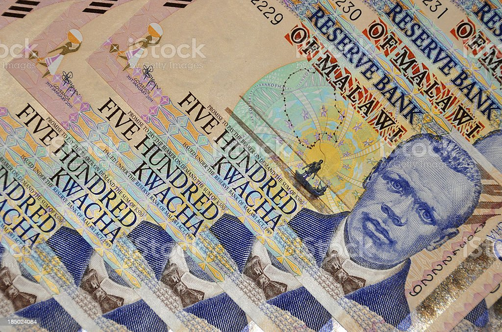 Blantyre, Malawi: Malawian currency, 500 Kwacha stock photo