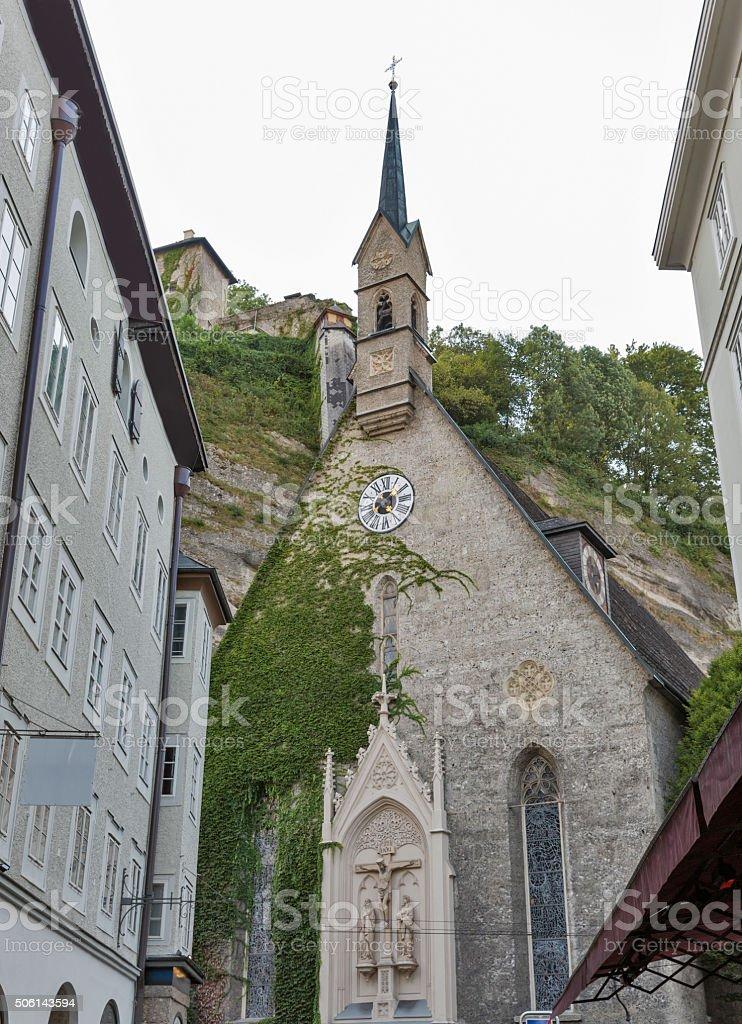 Blasiuskirche church in Salzburg, Austria stock photo