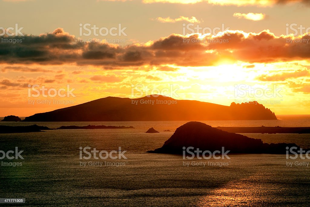 Blasket Islands in Ireland stock photo