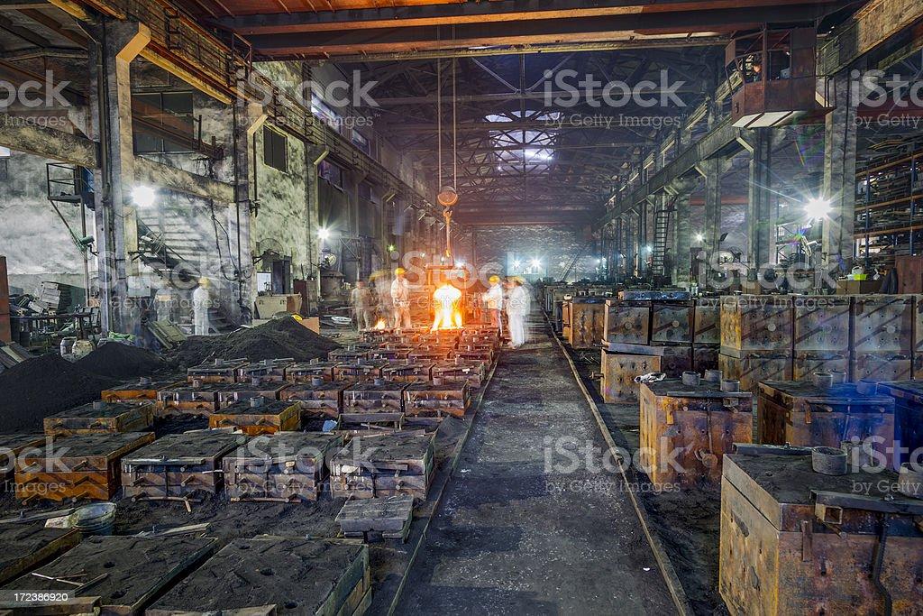 Blast furnace at metallurgical plant stock photo