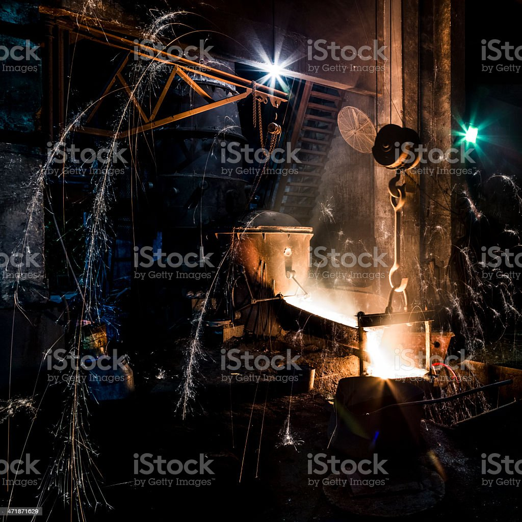 Blast furnace at metallurgical plant royalty-free stock photo