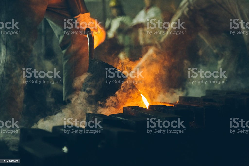 Blast furnace at metallurgical plant stock photo