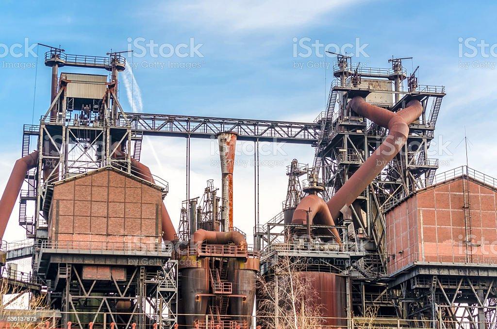 Blast furnace Duisburg Nord stock photo