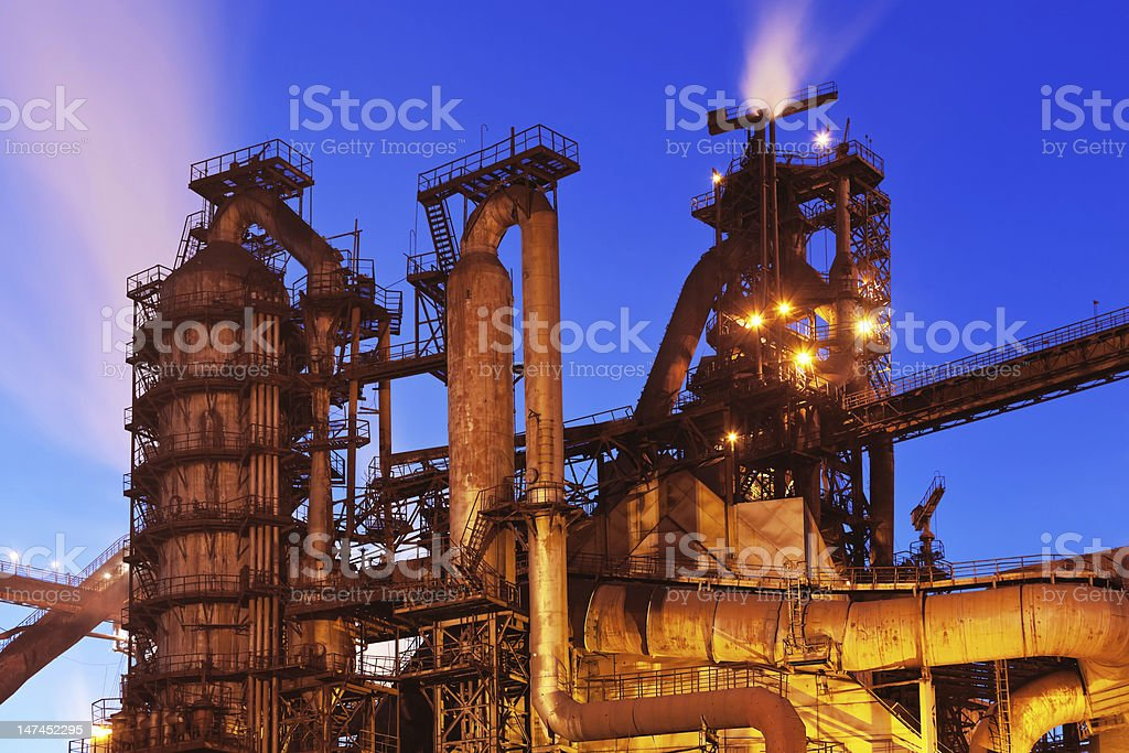 Blast furnace equipment stock photo