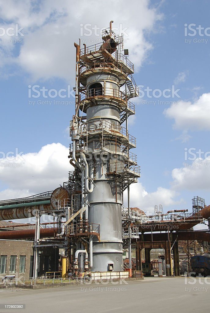 Blast Furnace out of Order stock photo