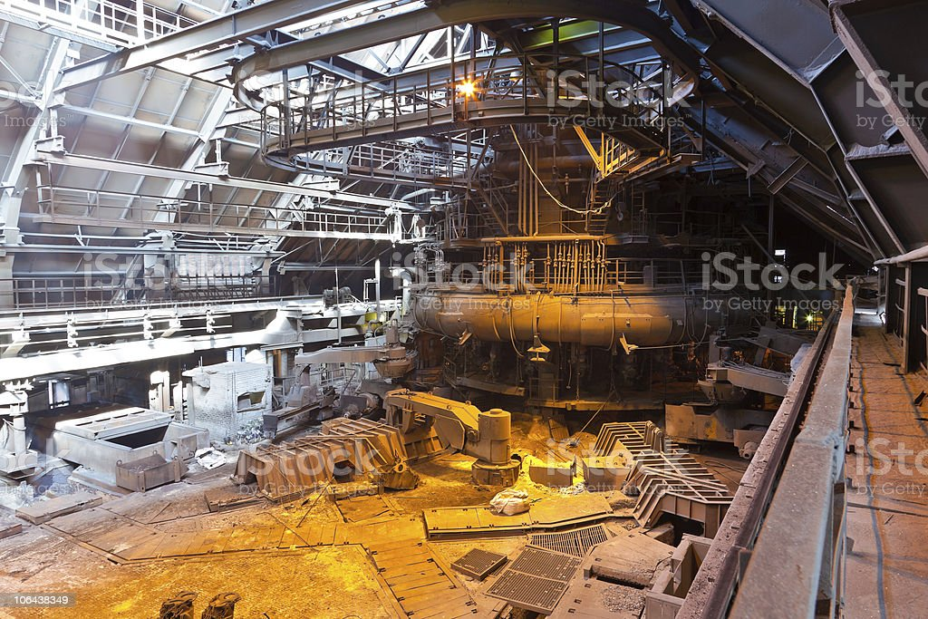 Blast furnace workshop stock photo