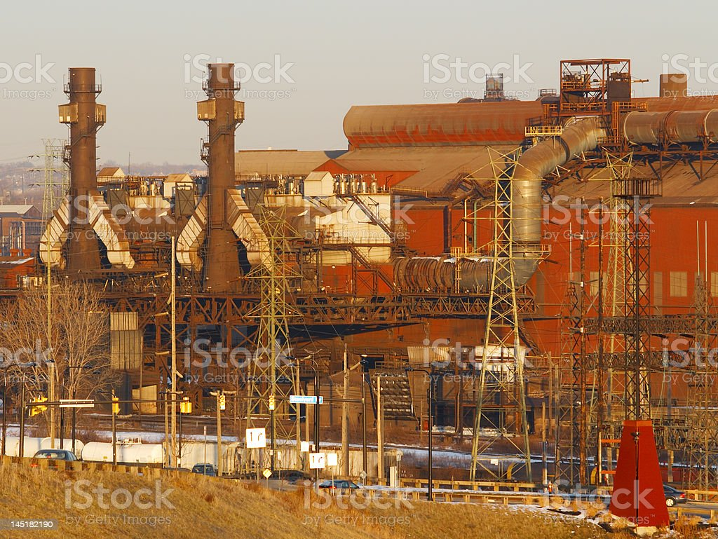 Blast furnaces royalty-free stock photo