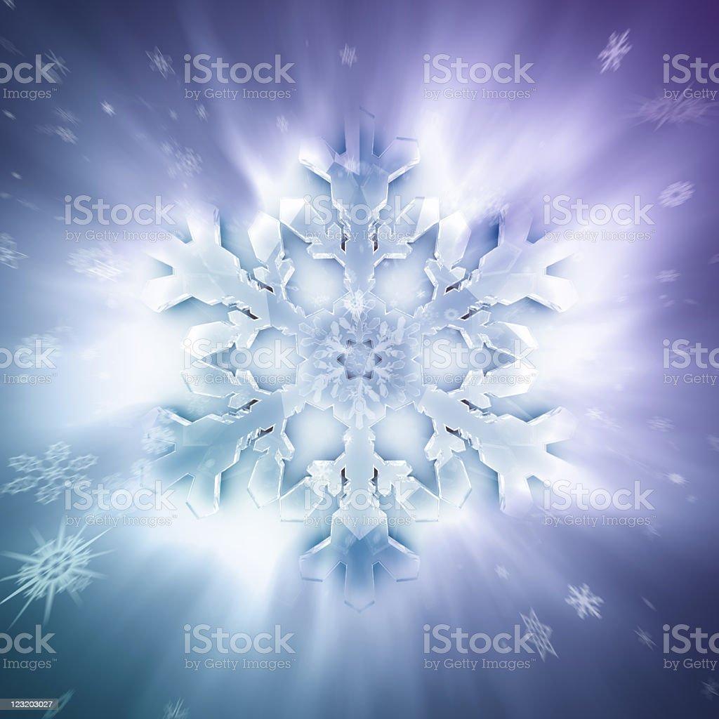 Blast of snow royalty-free stock photo