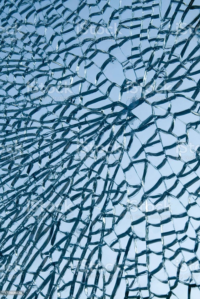 Blasted safety glass royalty-free stock photo