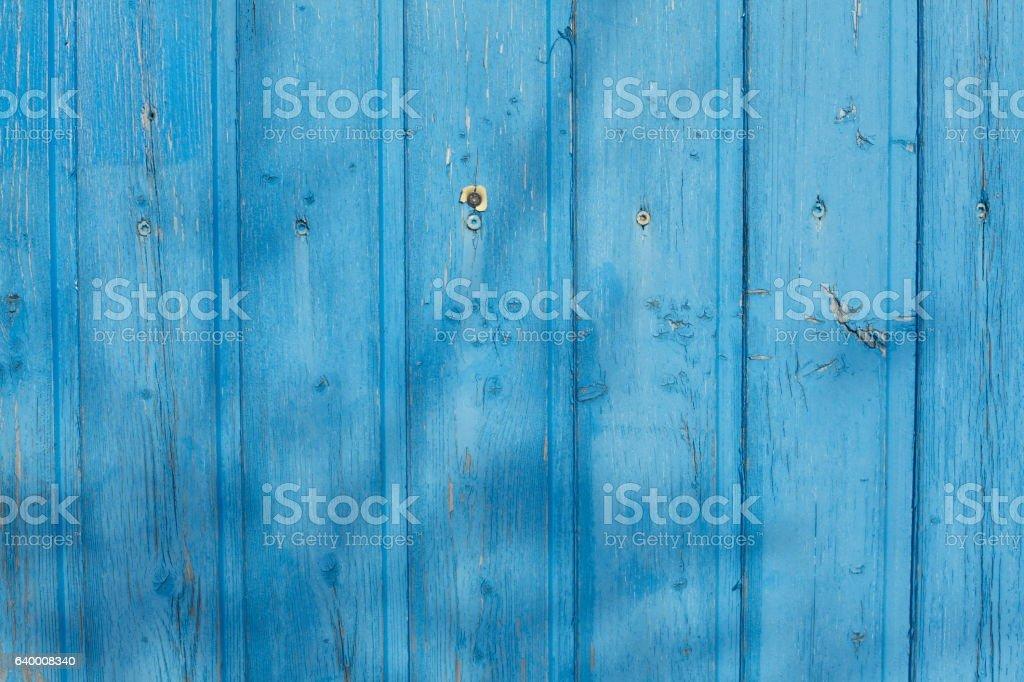 blau bemalte Holzbretter stock photo