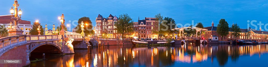 Blauwbrug, Amsterdam stock photo
