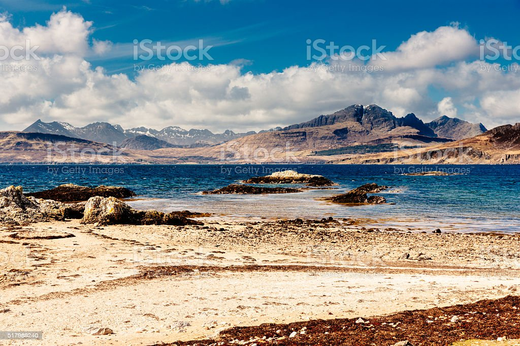 Blaven and the Cuillins of Skye, Scotland stock photo
