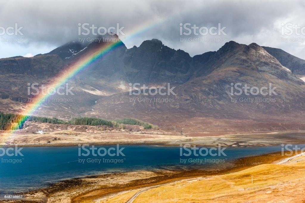 Blaven mountain, Isle of Skye, Scotland stock photo