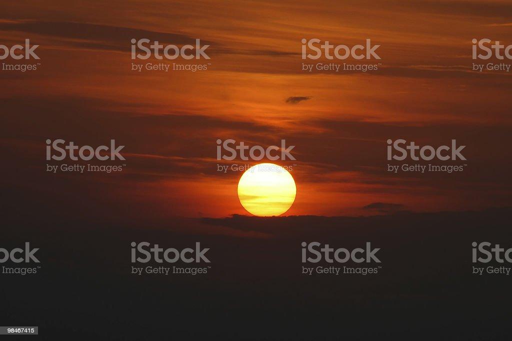 Blaye (Gironde, Aquitaine, France) - Sunset stock photo