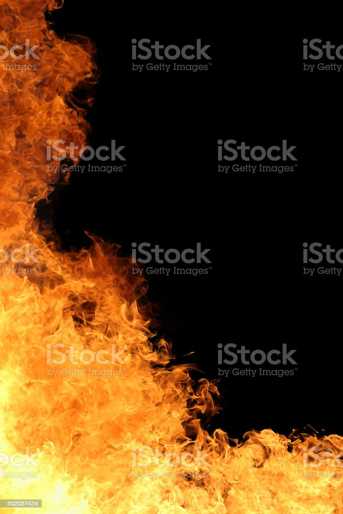 blaze fire flame with copy space stock photo