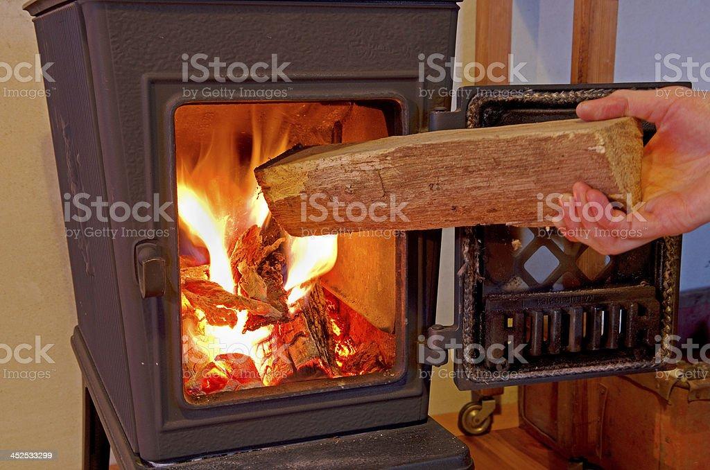 blaze in open fire stock photo