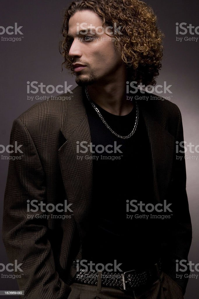 Blazer and belt royalty-free stock photo