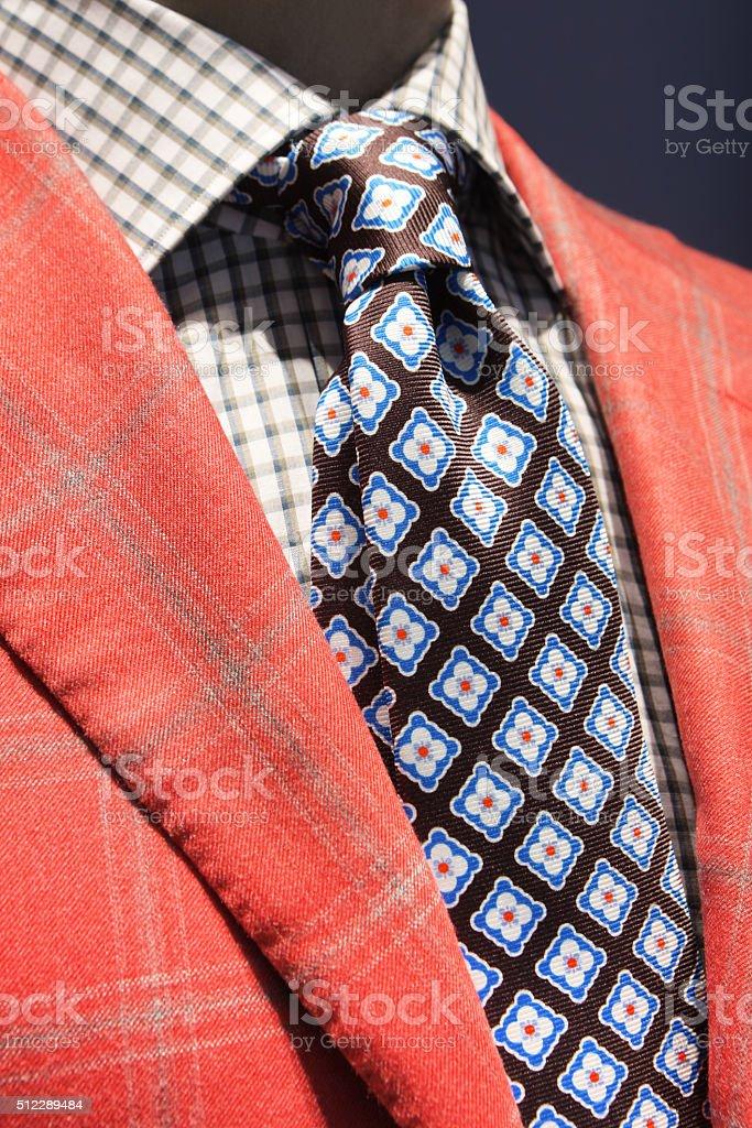 Blazer Jacket Tie Shirt Fashion stock photo