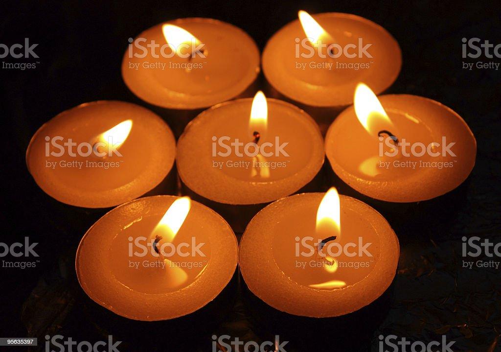 blazing candles stock photo