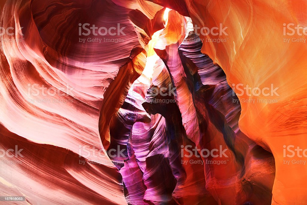 Blazing colors of Antelope Canyon, Arizona stock photo