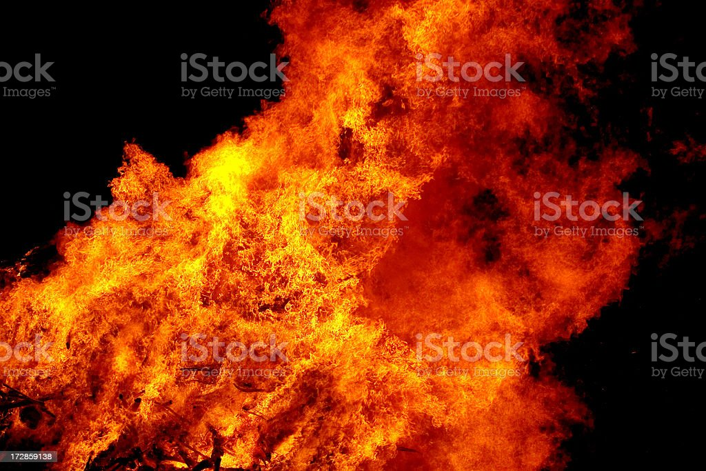 Blazing Fire stock photo