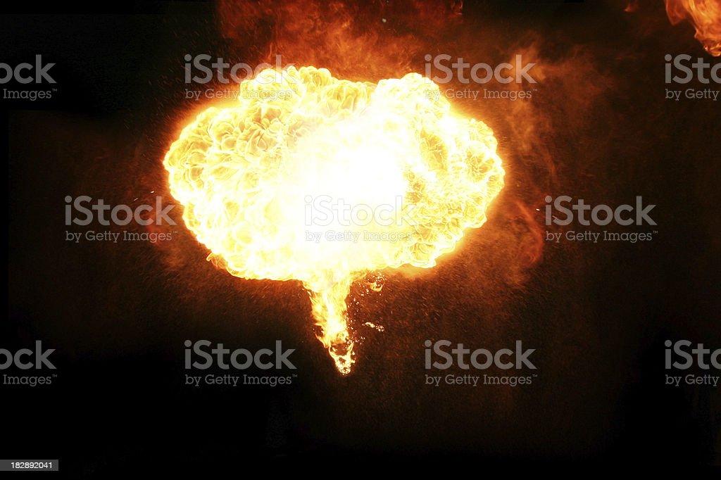 blazing fireball royalty-free stock photo