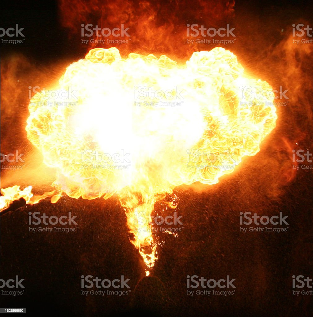 blazing fireball royalty-free stock photo