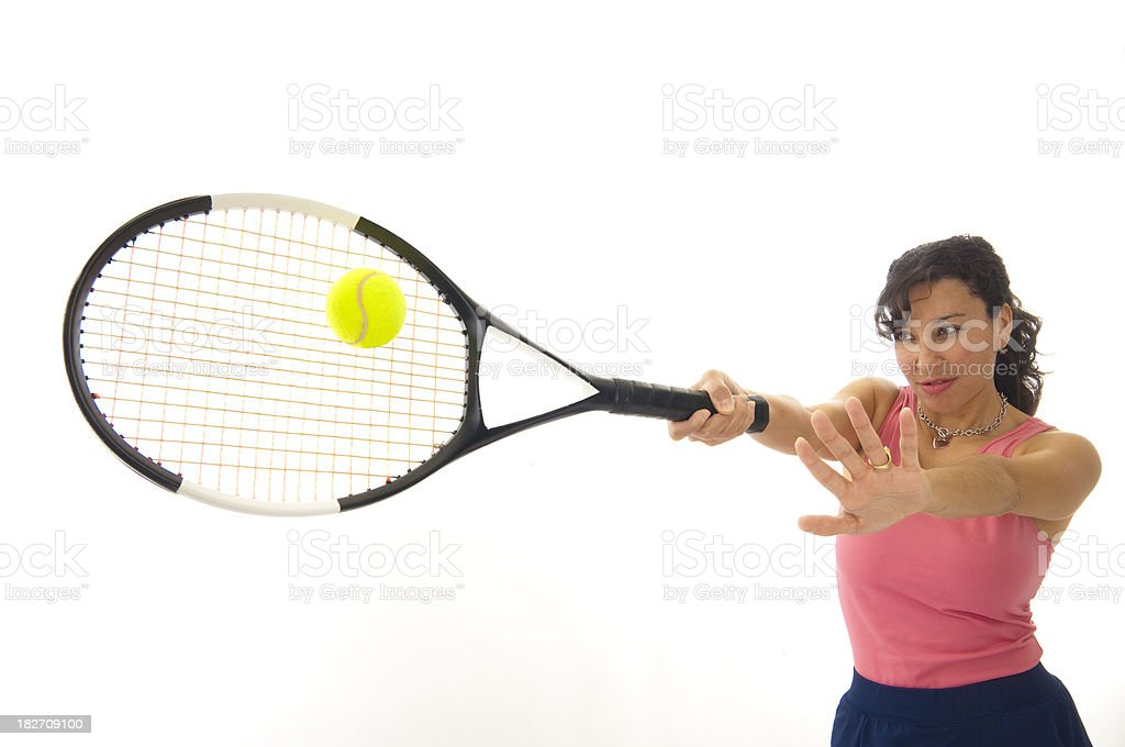 Blazing Forehand royalty-free stock photo