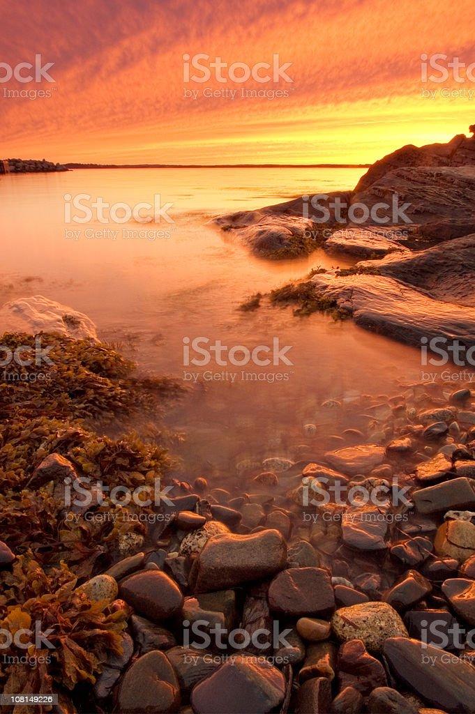 Blazing Sunset royalty-free stock photo