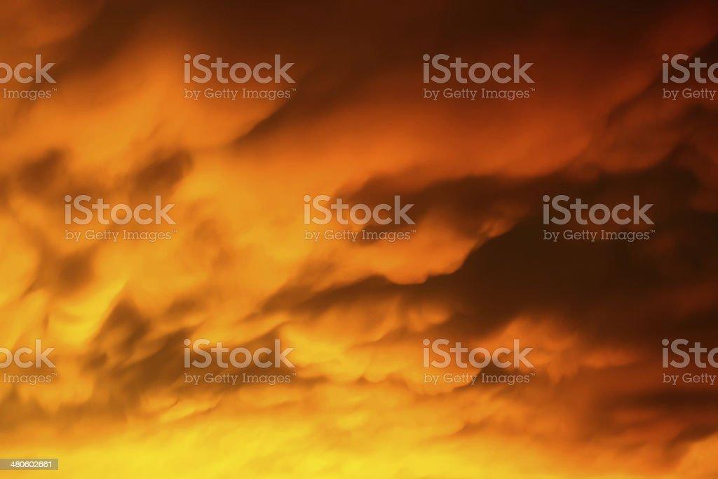 Blazing Sunset Sky royalty-free stock photo