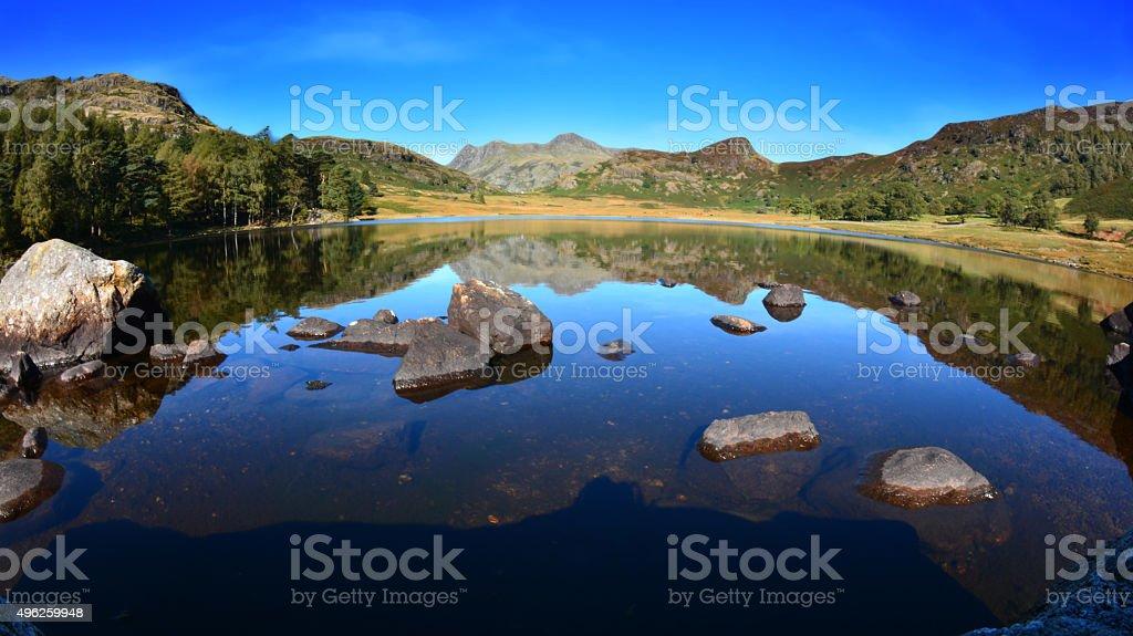 Blea Tarn in Little Langdale stock photo